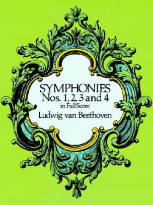 BEETHOVEN - Symphonies N ° 1, 2, 3 - 4 - Partition - di-arezzo.co.uk