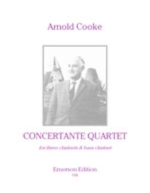 Concertante Quartet - Parts + Score - Arnold Cooke - laflutedepan.com
