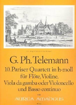 Pariser Quartett Nr. 10 h-moll -Flöte Violine Viola da gamba BC - laflutedepan.com
