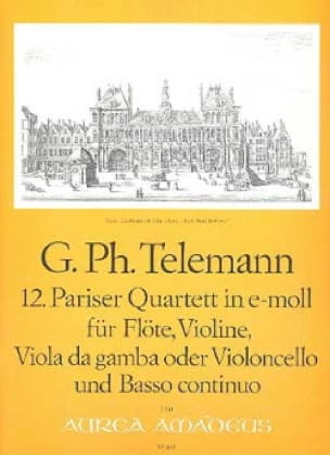12. Pariser Quartett in e-moll - TELEMANN - laflutedepan.com