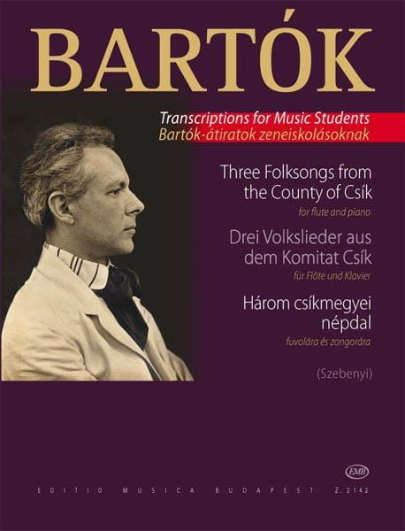 BARTOK - 3 Volkslieder aus dem Komitat Csik - Klavier Flute - Partition - di-arezzo.es