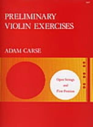 Preliminary violin exercices - Adam Carse - laflutedepan.com