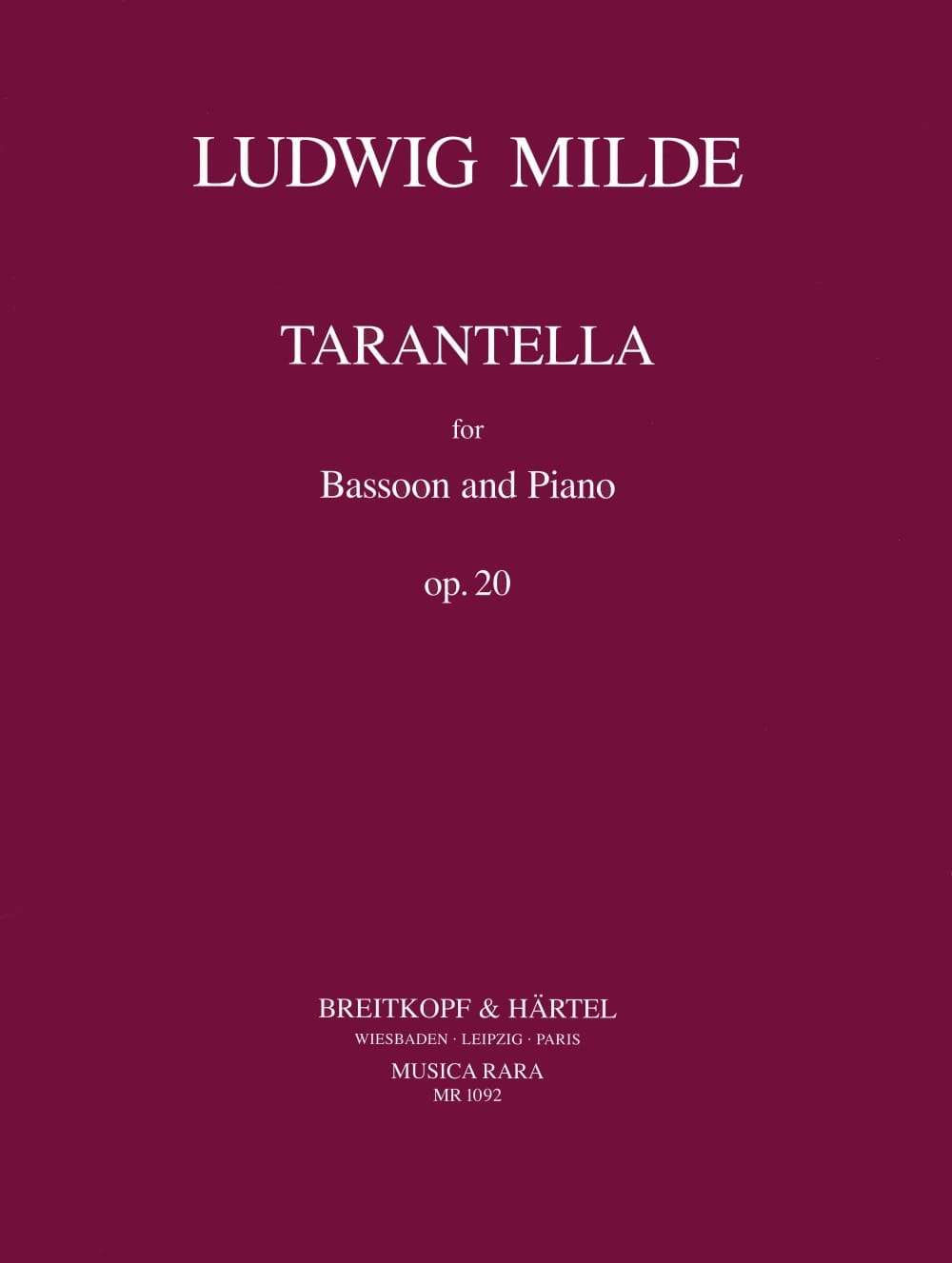 Tarantella op. 20 - Ludwig Milde - Partition - laflutedepan.com