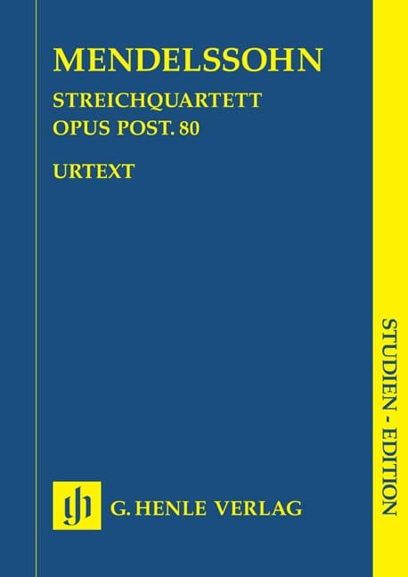 MENDELSSOHN - String quartet in F minor op. post. 80 - Partition - di-arezzo.com