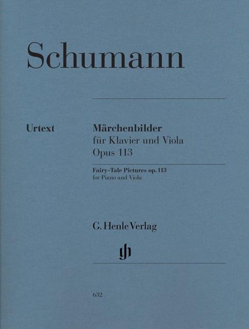 SCHUMANN - Märchenbilder op. 113 para piano y viola - Partition - di-arezzo.es