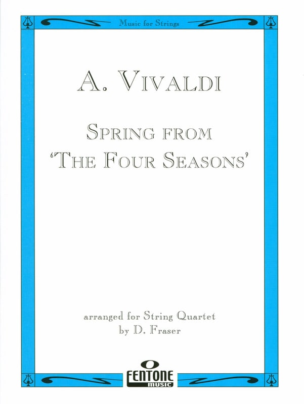 VIVALDI - Spring from The four seasons - String Quartet - Partition - di-arezzo.co.uk