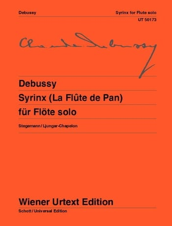 DEBUSSY - Syrinx The Pan Flute - Solo Flute - Partition - di-arezzo.co.uk