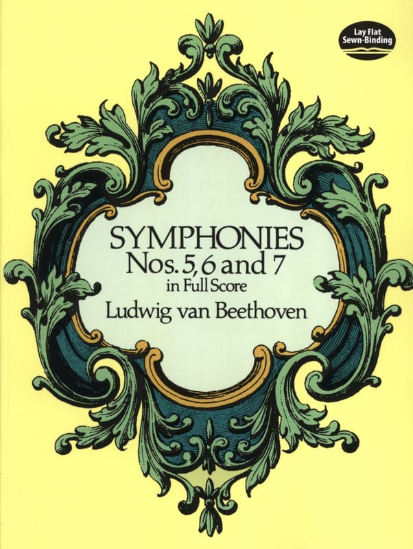 BEETHOVEN - Symphonies N ° 5, 6 and 7 - Full Score - Partition - di-arezzo.co.uk
