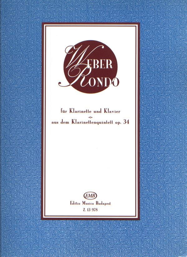Rondo Extr. Quintette Op. 34 / Clarinette - laflutedepan.com