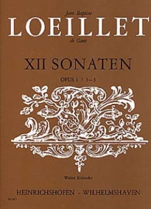 de Gant Jean Baptiste Loeillet - Sonaten op. 1 / 1-3 - Altblockflöte o. Violine u. Bc - Partition - di-arezzo.com