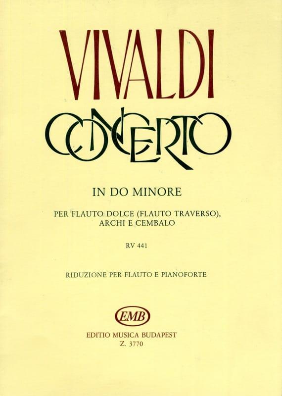 Concerto en do min. F. 6 n° 11 - Flauto dolce - laflutedepan.com