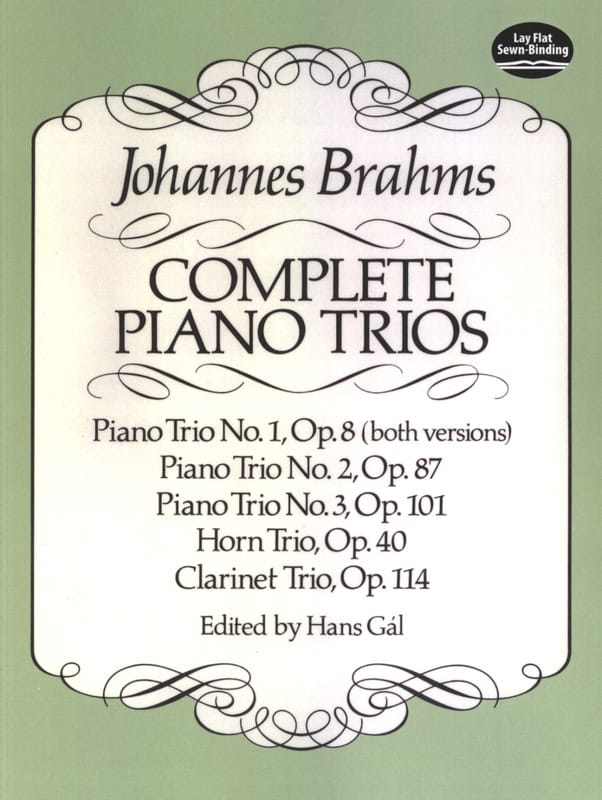 BRAHMS - Complete Piano Trios - Full Score - Partition - di-arezzo.co.uk