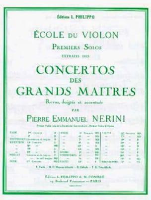 Giovanni Battista Viotti - 1st Solo of the Nerini Concerto n ° 14 - Partition - di-arezzo.com
