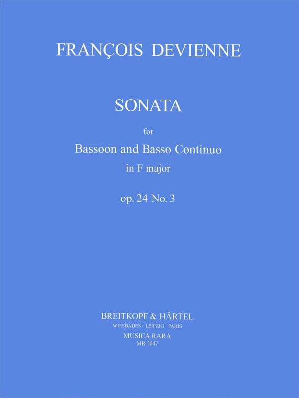 François Devienne - Sonata F Major Op. 24 No. 3 - Partition - di-arezzo.com