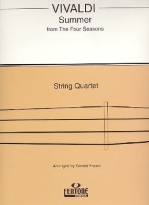 VIVALDI - Summer from The Four Seasons - String Quartet - Partition - di-arezzo.co.uk