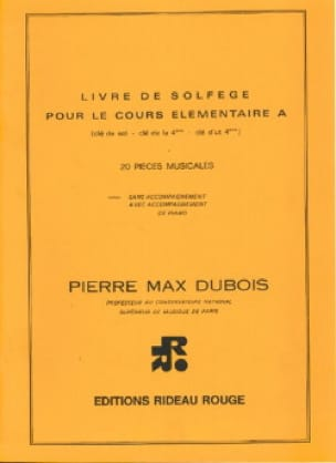 Pierre-Max Dubois - Book of solfège élém. A - 3 keys without acc. - Partition - di-arezzo.com
