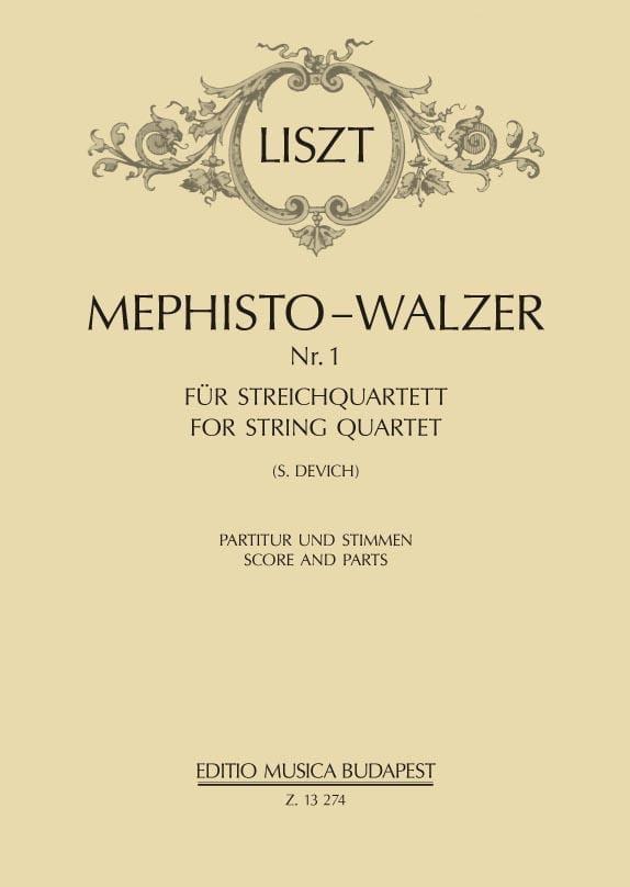 Mephisto-Valse - Quatuor à Cordes - LISZT - laflutedepan.com