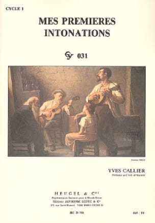 Yves Callier - My first intonations - Partition - di-arezzo.com