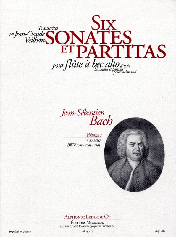 BACH - 6 Sonatas and Partitas - Vol 1 - Alto Recorder - Partition - di-arezzo.com