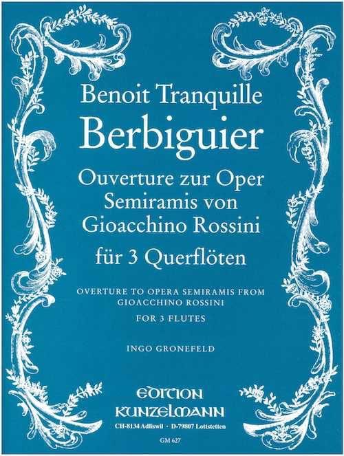 Semiramis, Ouverture Rossini - 3 Flöten - laflutedepan.com