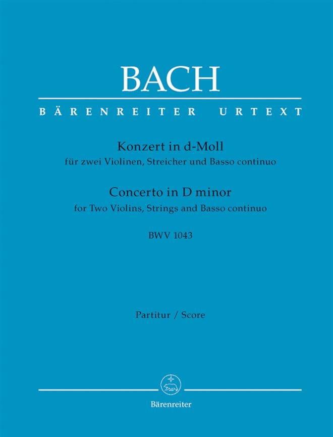 BACH - Konzert d-Moll BWV 1043 - 2 Violinen - Driver - Partition - di-arezzo.co.uk