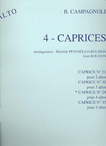 Caprice n° 28 op. 22 - 4 Altos - laflutedepan.com