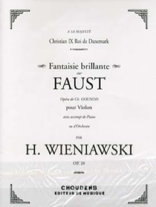 WIENIAWSKI - Shiny Fantasy on Faust op. 20 - Partition - di-arezzo.com