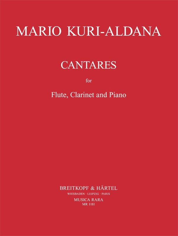 Cantares - Mario Kuri-Aldana - Partition - Trios - laflutedepan.com