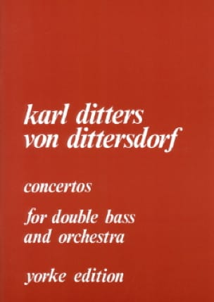 Carl Ditters Von Dittersdorf - Concertos for double bass and orchestra - Partition - di-arezzo.co.uk