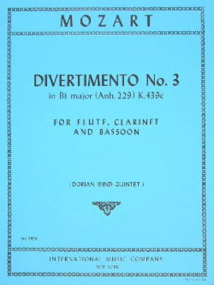Divertimento n° 3 KV 439c in Bb major - Parts - laflutedepan.com