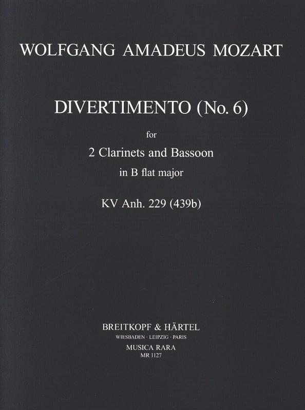 Divertimento n° 6 KV 439b in Bb - 2 Clarinets bassoon - laflutedepan.com