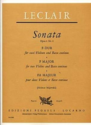 Sonate F-Dur op. 4 Nr. 4 -2 Violine u. Bc - laflutedepan.com