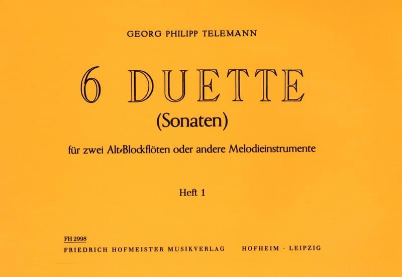 6 Duette Volume 1 - Fl. A Bec Alto - TELEMANN - laflutedepan.com