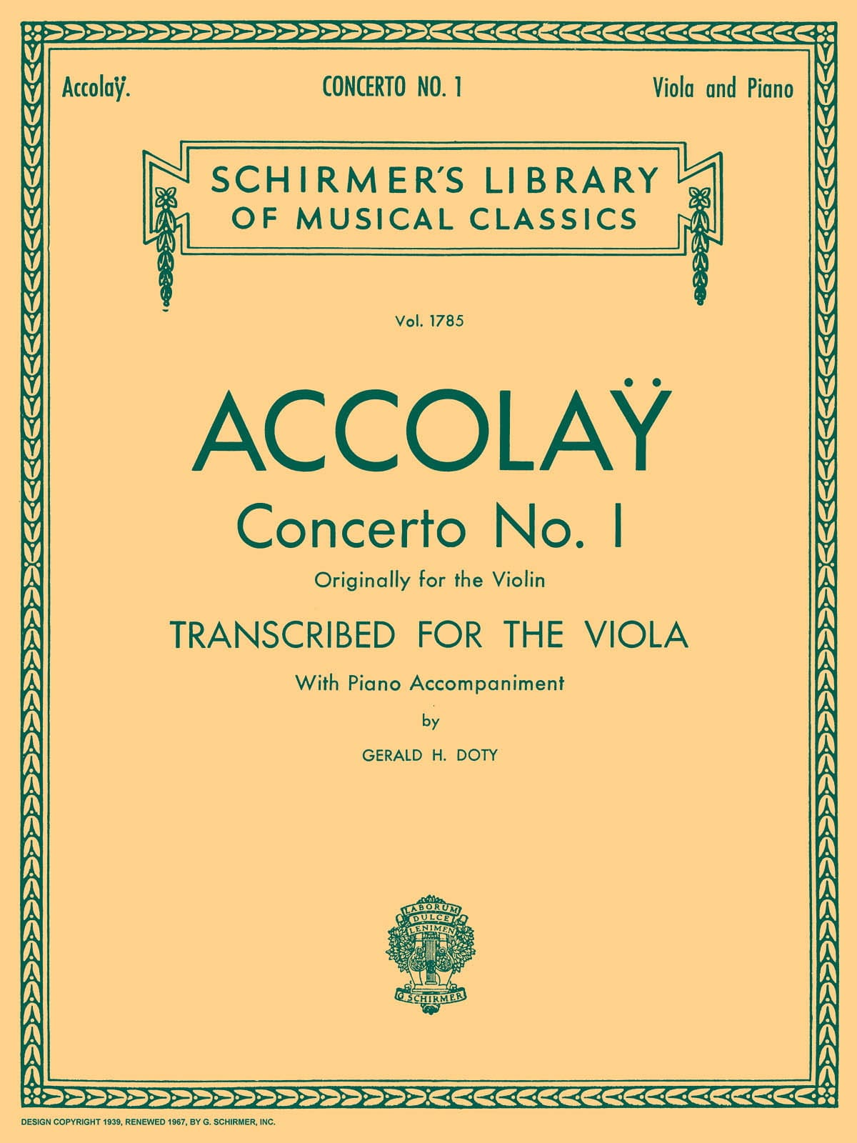 Concerto n° 1 Transcr. Alto - Jean-Baptiste ACCOLAY - laflutedepan.com