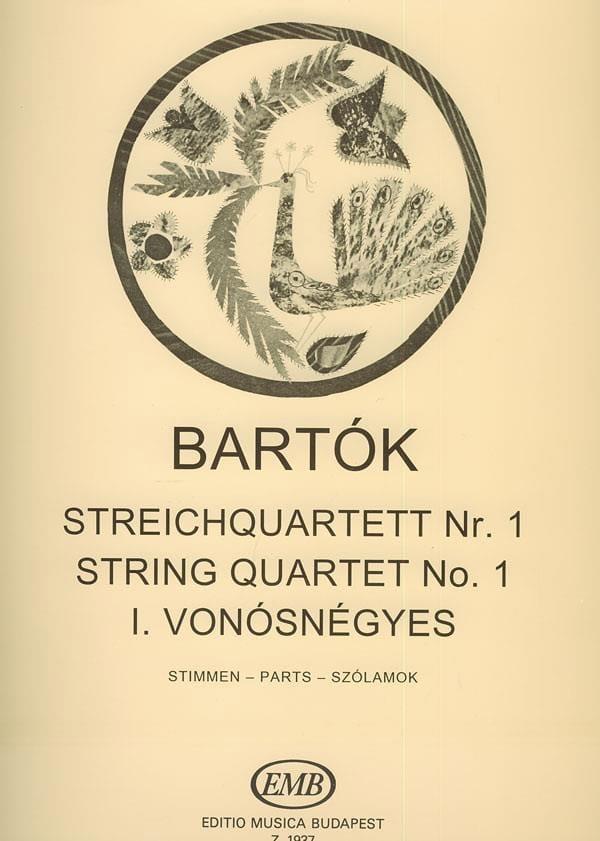 BARTOK - String Quartet No. 1 - Parts - Partition - di-arezzo.co.uk