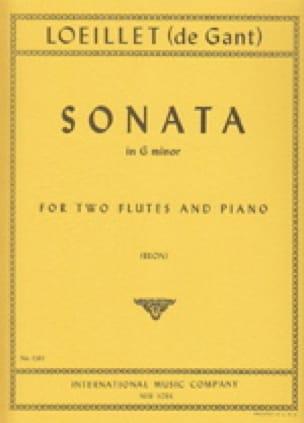 Sonata in G minor - 2 flutes piano - laflutedepan.com