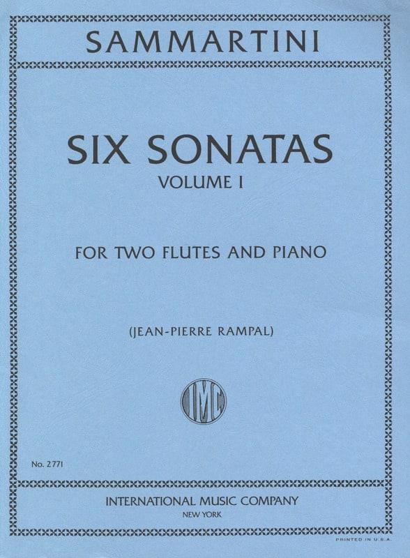SAMMARTINI - 6 Sonatas Volume 1 - 2 piano flutes - Partition - di-arezzo.com