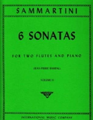 SAMMARTINI - 6 Sonatas Volume 2 - 2 piano flutes - Partition - di-arezzo.com