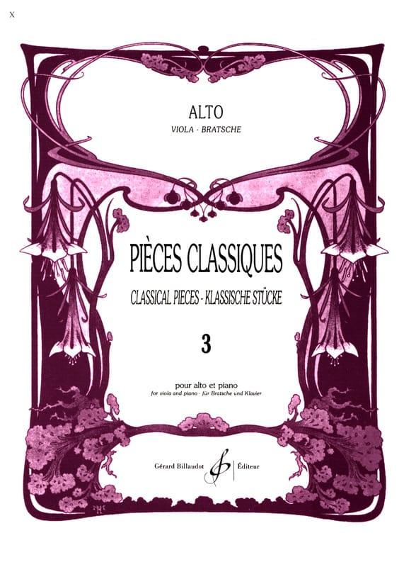 Frédéric Lainé - Pièces Classiques Volume 3 - Alto - Partition - di-arezzo.fr