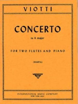 Concerto A major -2 flutes piano - VIOTTI - laflutedepan.com