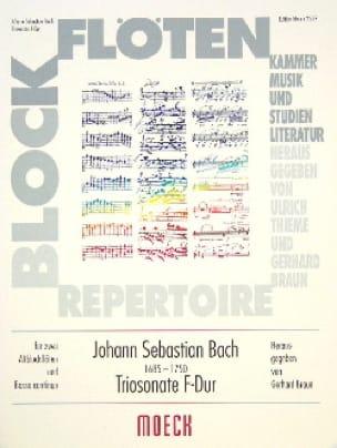 BACH - Triosonate F-Dur - 2 Blockflöten BC - Partition - di-arezzo.com