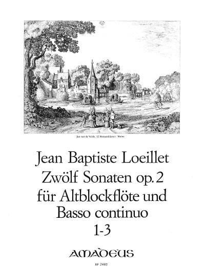 12 Sonates op. 2 : n° 1-3 - Altoblockflöte u/ Bc - laflutedepan.com