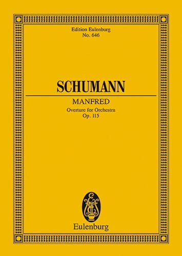 SCHUMANN - Manfred, Obertura, Opus 115 - Partition - di-arezzo.es