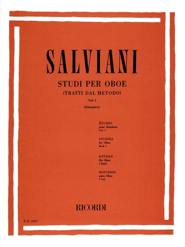 Clemente Salviani - Studi per oboe - Volume 1 - Partition - di-arezzo.co.uk