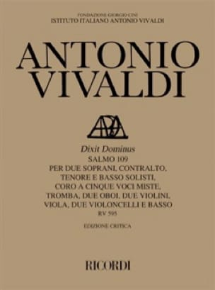 Dixit Dominus RV 595 - VIVALDI - Partition - laflutedepan.com