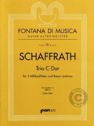 Christoph Schaffrath - Trio C-Dur - 2 Altblockflöten BC - Partition - di-arezzo.com