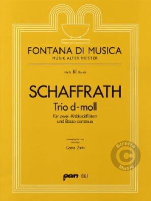 Christoph Schaffrath - Trio d-moll - 2 Altblockflöten BC - Partition - di-arezzo.com
