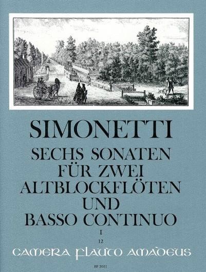 6 Sonaten op. 2 Bd. 1 : Nr. 1-3 -2 Altblockflöten Bc - laflutedepan.com