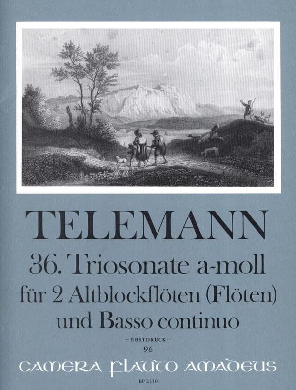 Triosonate Nr. 36 a-moll - 2 Altblockflöten u. Bc - laflutedepan.com