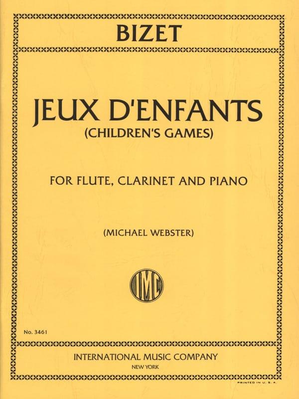 Jeux d'enfants - Flute clarinet piano - BIZET - laflutedepan.com
